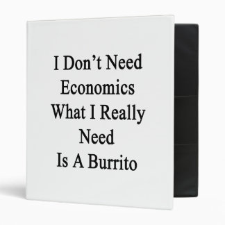 I Don't Need Economics What I Really Need Is A Bur 3 Ring Binders