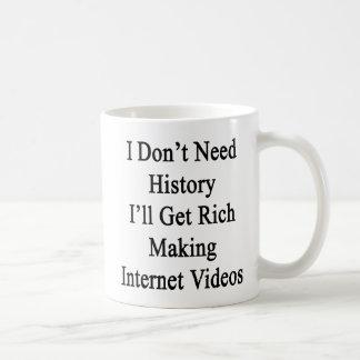I Don't Need History I'll Get Rich Making Internet Coffee Mug