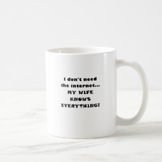 I Dont Need the Internet My Wife Knows Everything Coffee Mug