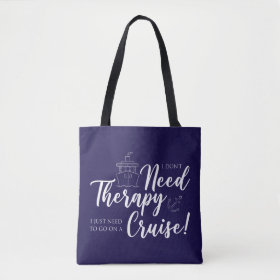 I Don't Need Therapy Nautical Tote Bag