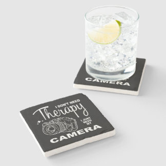 I Don't Need Therapy Photography Stone Coaster