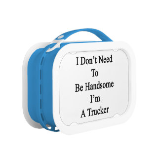 I Don't Need To Be Handsome I'm A Trucker Replacement Plate