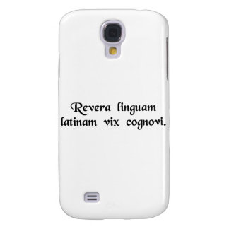 I don't really know all that much Latin. Galaxy S4 Cover