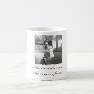 I don't remember a time when we weren... classic white coffee mug