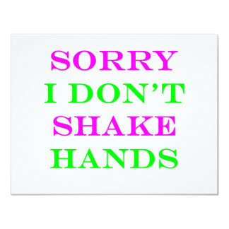 I Don't Shake Hands 2 Card