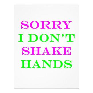 I Don't Shake Hands 2 Custom Flyer
