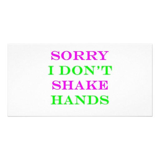 I Don't Shake Hands 2 Photo Greeting Card
