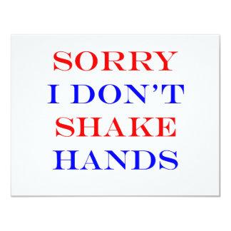 I Don't Shake Hands Card