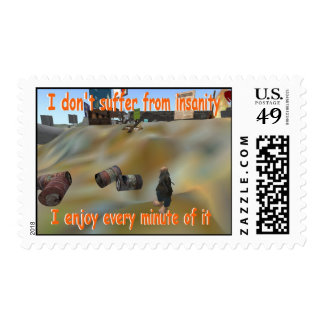 I dont suffer from insanity postage stamp