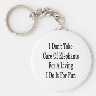 I Don't Take Care Of Elephants For A Living I Do I Keychain