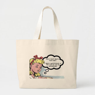 """I don't want a """"nice man"""" (feminism) large tote bag"""