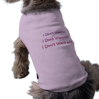 I Don't Want to!  Doggie Ribbed Tank Top