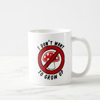 I don't want to grow up red mushroom mug