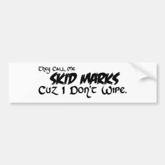 I don't wipe. bumper sticker