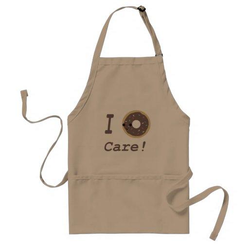 I Donut Care! chocolate Aprons