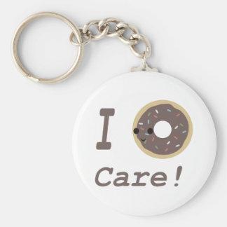 I Donut Care! chocolate Keychain