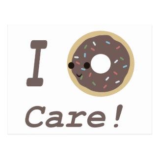 I Donut Care! Chocolate Postcard