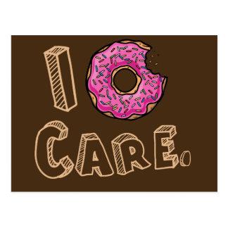 I Donut Care Funny Postcard