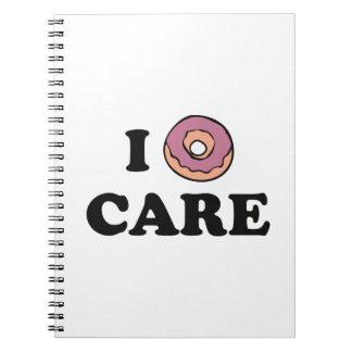 I Donut Care Notebook