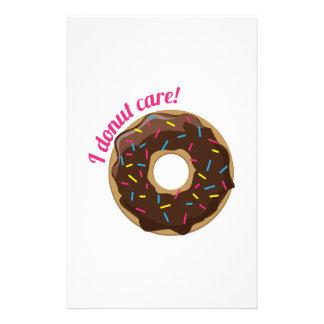 I Donut Care! Stationery