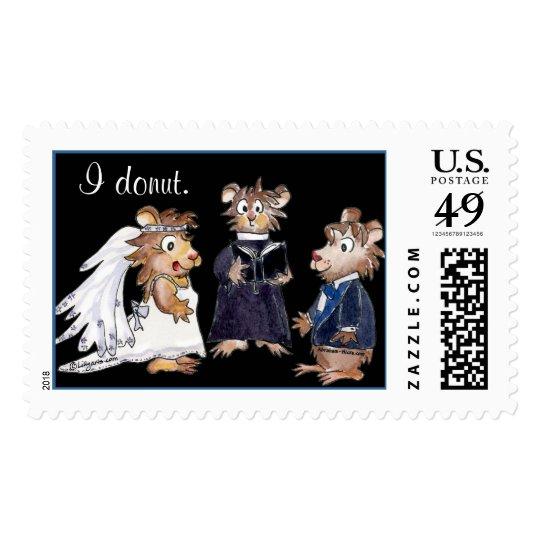 I donut Hamster Wedding Stamps