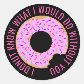 I Donut Know Classic Round Sticker