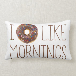 I Donut Like Mornings Lumbar Pillow
