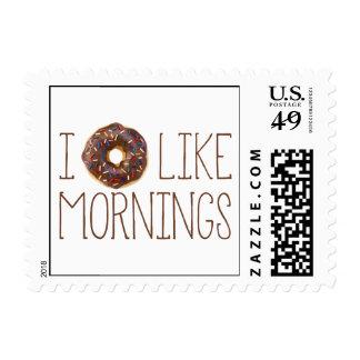 I Donut Like Mornings Stamps