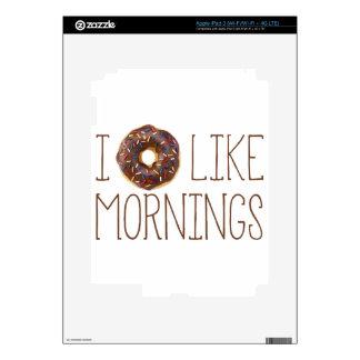 I Donut Like Mornings Decal For iPad 3
