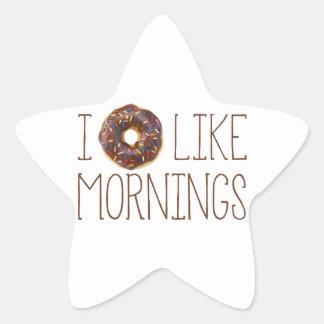 I Donut Like Mornings Star Sticker