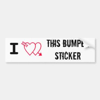 I Double Love This Bumper Sticker Car Bumper Sticker