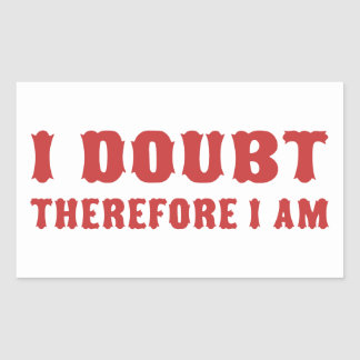 I Doubt Therefore I am Rectangular Stickers