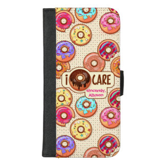 I Doughnut Care Cute Funny Donut Sweet Treats Love iPhone 8/7 Plus Wallet Case