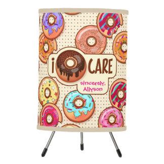 I Doughnut Care Cute Funny Donut Sweet Treats Love Tripod Lamp