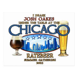 I drank josh oakes under the table-- ratebeer.jpg postcard