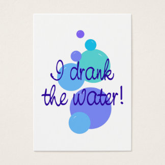 I Drank the Water Mini Announcement Cards