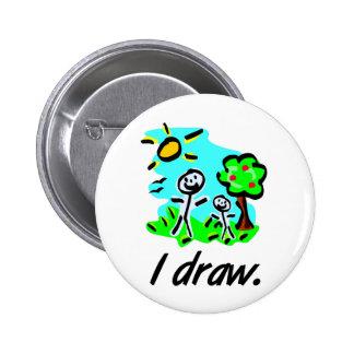 I Draw Stick Figure Artist Giftware Button