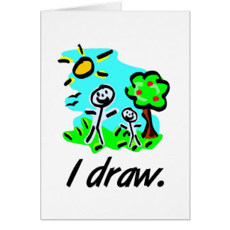 I Draw Stick Figure Artist Giftware Card