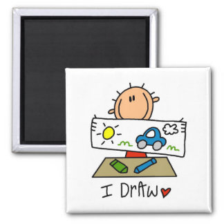 I Draw Tshirts and Gifts 2 Inch Square Magnet