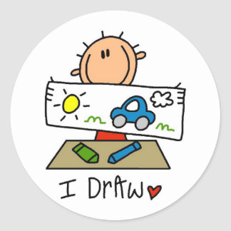 I Draw Tshirts and Gifts Classic Round Sticker