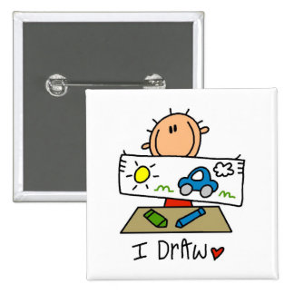 I Draw Tshirts and Gifts Pinback Button