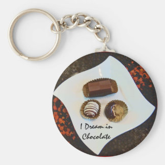 I Dream in Chocolate Keychain