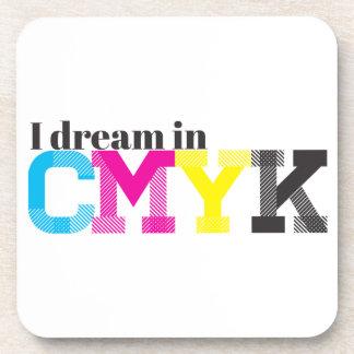 I Dream in CMYK Drink Coaster