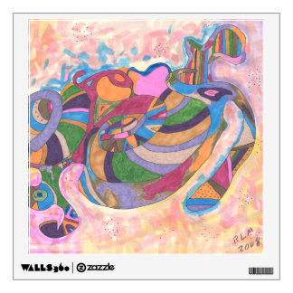 """""""I Dream in Color"""" Abstract Art Wall Stickers"""