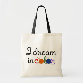 I Dream in Color tote - for lights Budget Tote Bag