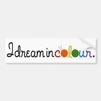 I dream in colour bumper sticker