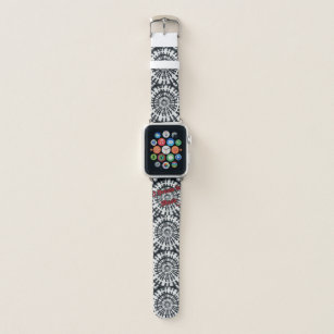 2342992e013 I dream in music black and white Apple watch band