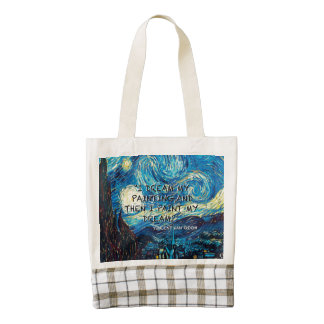 I dream my painting,and then i painting my dream. zazzle HEART tote bag