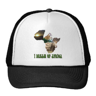 I Dream of Africa wildlife collage 4 Hats