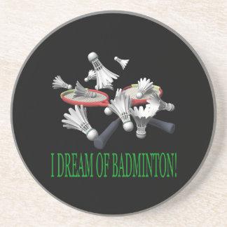 I Dream Of Badminton Drink Coasters